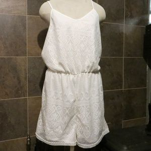 Lace Shorts Romper NWT